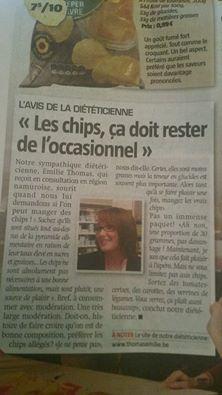 """""""les chips ça doit rester de l'occasionel"""""""